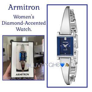 Armitron Diamond-Accented Silver Watch